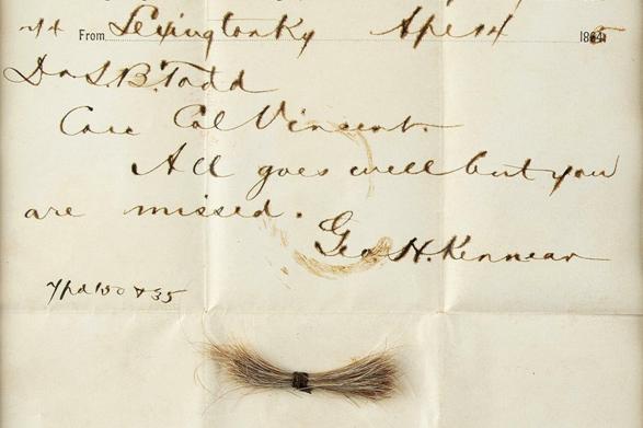 81 000 dolarów za telegram z puklem włosów Abrahama Lincolna